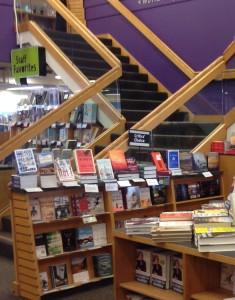 _U Book store stairs