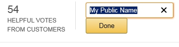 Editing My Public Name on Amazon